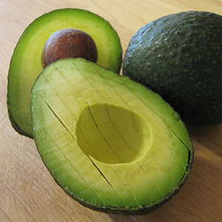 fresh ripe avocado sliced