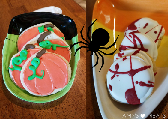 Halloween and holiday cookies with royal icing